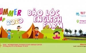 Trại hè tiếng Anh BẢO LỘC ENGLISH FARM 2020: TIẾNG ANH – DU LỊCH – NÔNG TRẠI