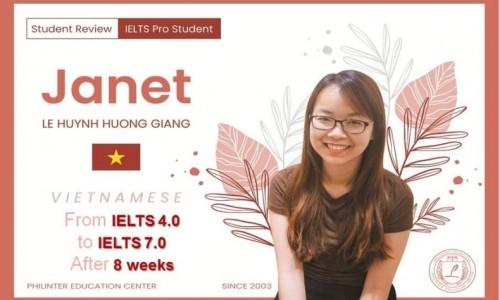 CẢM NHẬN CỦA BẠN JANET SAU KHI ĐẠT TỪ 4.0 LÊN 7.0 IELTS CHỈ TRONG 2 THÁNG TẠI PHILLIPINES